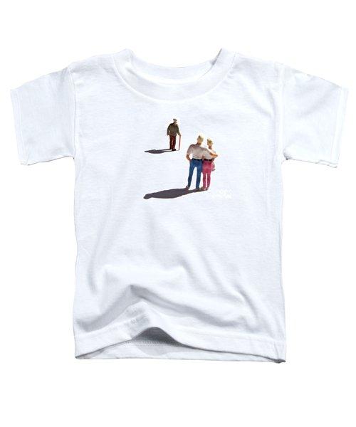 Miniature Figurines Couple Watching Elderly Man Toddler T-Shirt