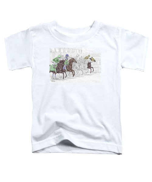 Odds Are - Tb Horse Racing Print Color Tinted Toddler T-Shirt