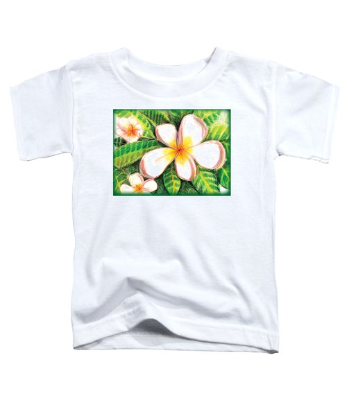 Plumeria With Foliage Toddler T-Shirt