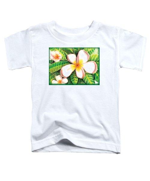 Plumeria With Foliage Toddler T-Shirt