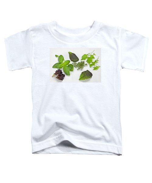 Salad Greens And Spices Toddler T-Shirt by Joana Kruse