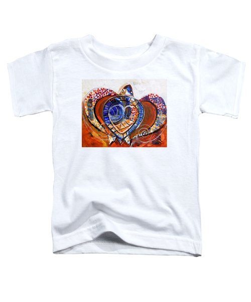 Sea Turtle Love - Orange And White Toddler T-Shirt