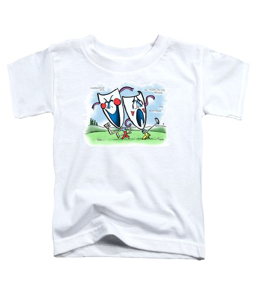 The Two Faces Of Golf Toddler T-Shirt