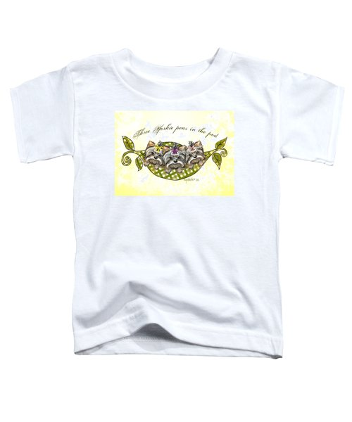 Three Yorkie Peas In The Pod Toddler T-Shirt