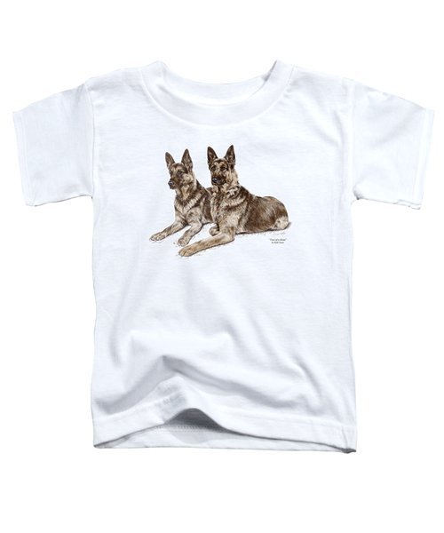 Two Of A Kind - German Shepherd Dogs Print Color Tinted Toddler T-Shirt