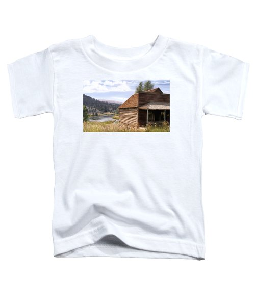 Toddler T-Shirt featuring the painting Vc Backyard by Susan Kinney