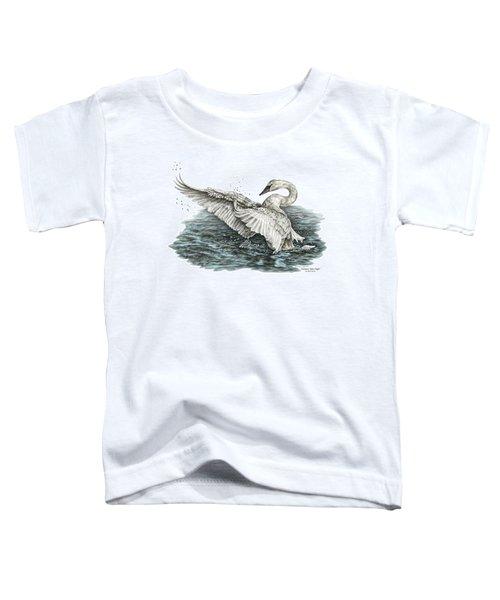 White Swan - Dreams Take Flight-tinted Toddler T-Shirt