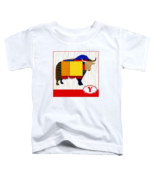Y Is For Yak Toddler T-Shirt by Elaine Plesser