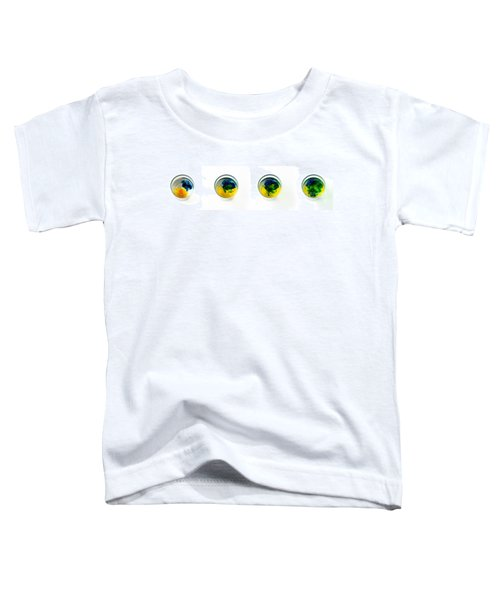 Yellow And Blue Become Green Toddler T-Shirt