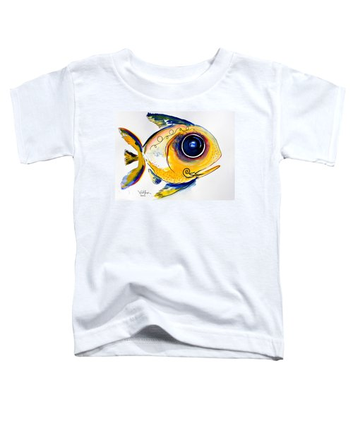 Yellow Study Fish Toddler T-Shirt
