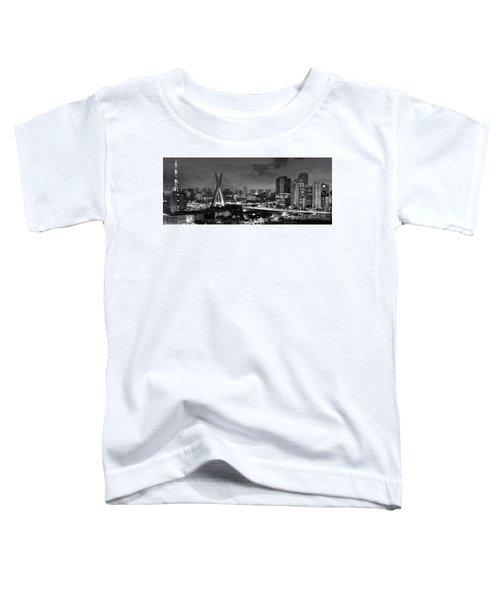 Sao Paulo Iconic Skyline - Cable-stayed Bridge - Ponte Estaiada Toddler T-Shirt