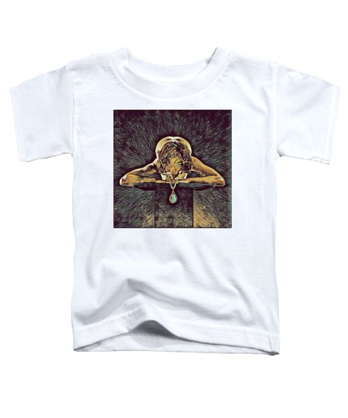 0756s-zac Nude Woman With Amulet On Tall Pedestal  Toddler T-Shirt