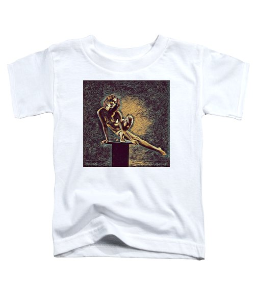 0953s-zac Casual Balance Black Dancer Graceful Strong In The Style Of Antonio Bravo Toddler T-Shirt