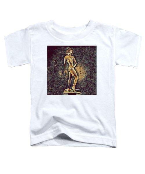 0957s-zac Fit Black Dancer Standing On Platform Toddler T-Shirt
