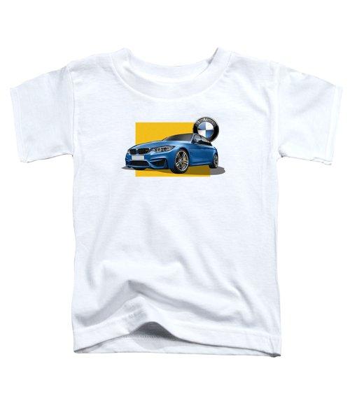 2016  B M W  M 3  Sedan With 3 D Badge  Toddler T-Shirt by Serge Averbukh