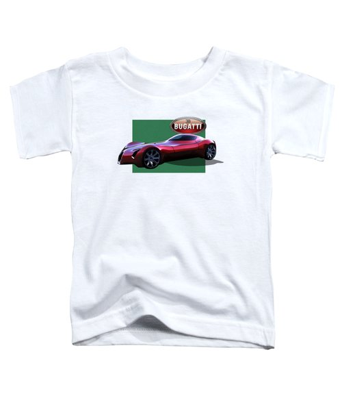 2025 Bugatti Aerolithe Concept With 3 D Badge  Toddler T-Shirt by Serge Averbukh
