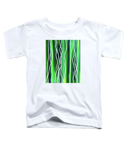 Abstract Lines On Green Toddler T-Shirt