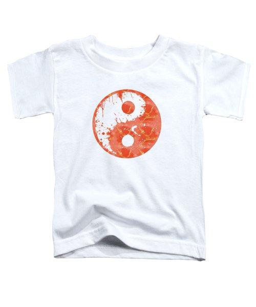 Abstract Yin And Yang Taijitu Symbol Toddler T-Shirt