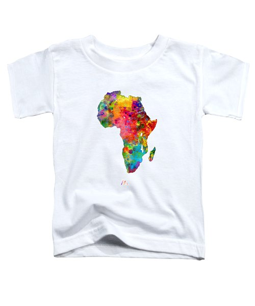 Africa Watercolor Map Toddler T-Shirt