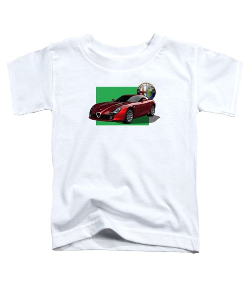 Alfa Romeo Zagato  T Z 3  Stradale With 3 D Badge  Toddler T-Shirt by Serge Averbukh