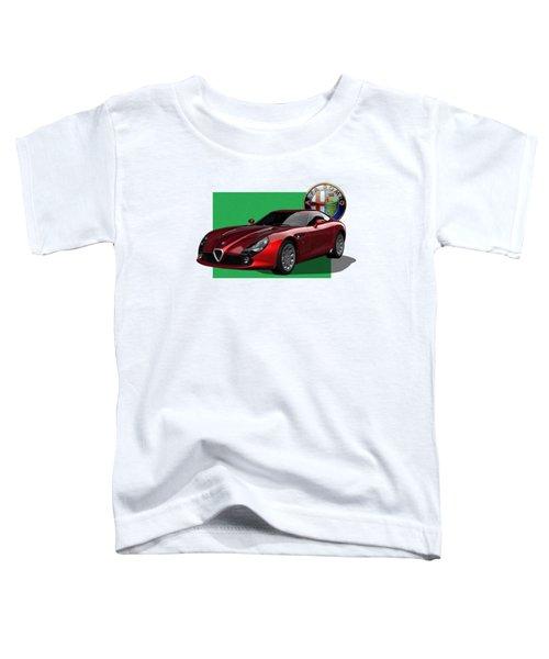 Alfa Romeo Zagato  T Z 3  Stradale With 3 D Badge  Toddler T-Shirt