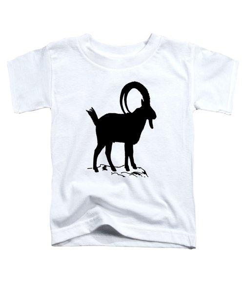 Alpine Ibex Toddler T-Shirt by Mordax Furittus