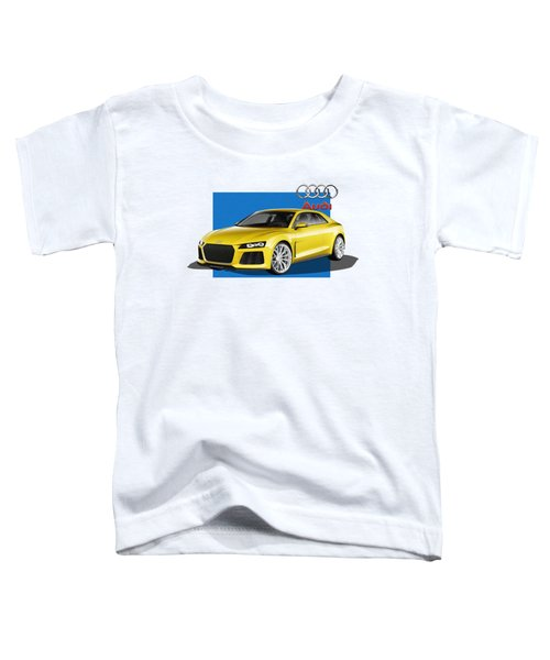 Audi Sport Quattro Concept With 3 D Badge  Toddler T-Shirt