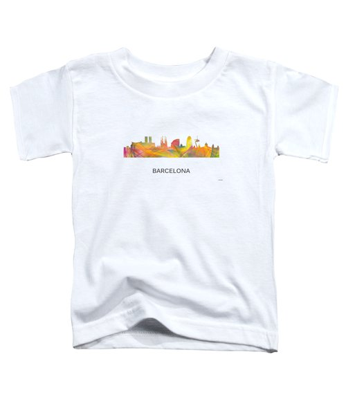 Barcelona Spain Skyline Toddler T-Shirt