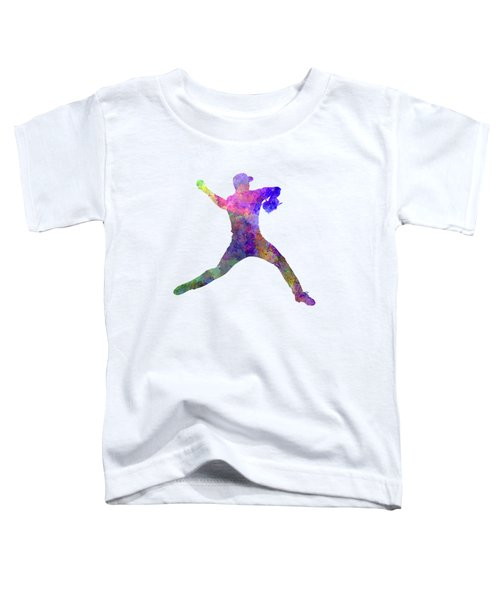 Baseball Player Throwing A Ball Toddler T-Shirt by Pablo Romero