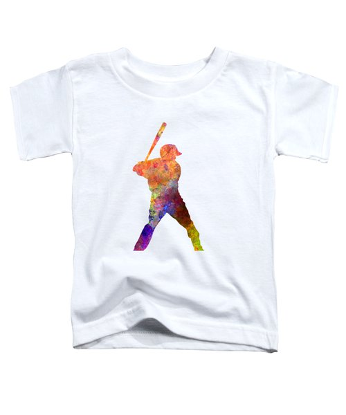 Baseball Player Waiting For A Ball Toddler T-Shirt by Pablo Romero