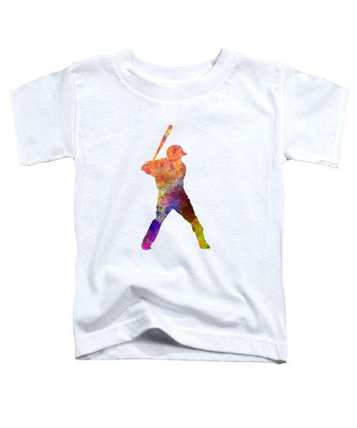 Baseball Player Waiting For A Ball Toddler T-Shirt