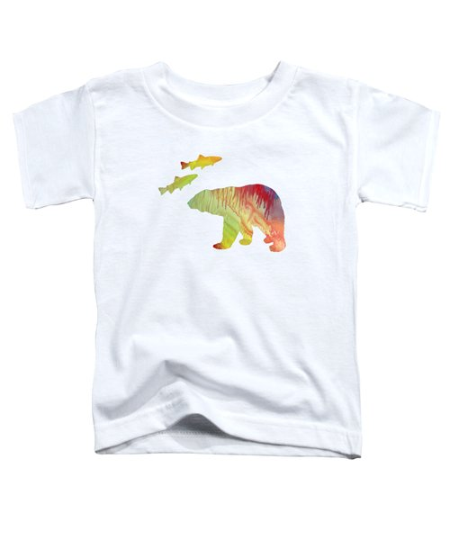 Bear And Salmon Toddler T-Shirt