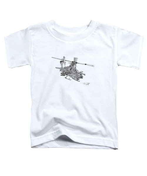 Bell Ah-1z Viper Toddler T-Shirt by Arthur Eggers