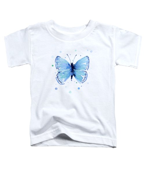 Blue Abstract Butterfly Toddler T-Shirt