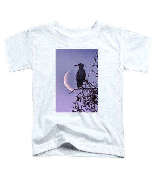 Blue Heron Moon Toddler T-Shirt