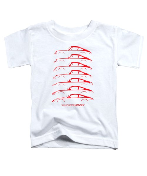 Boxer Sports Car Silhouettehistory Toddler T-Shirt