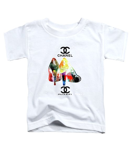 Chanel Shoes Grunge Toddler T-Shirt