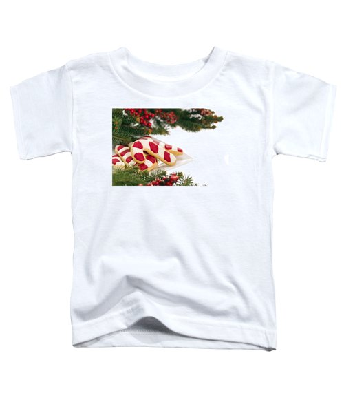 Christmas Cookies Decorated With Real Tree Branches Toddler T-Shirt