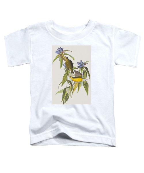 Connecticut Warbler Toddler T-Shirt by John James Audubon
