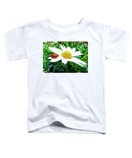 Daisy Flower And Ladybug Toddler T-Shirt