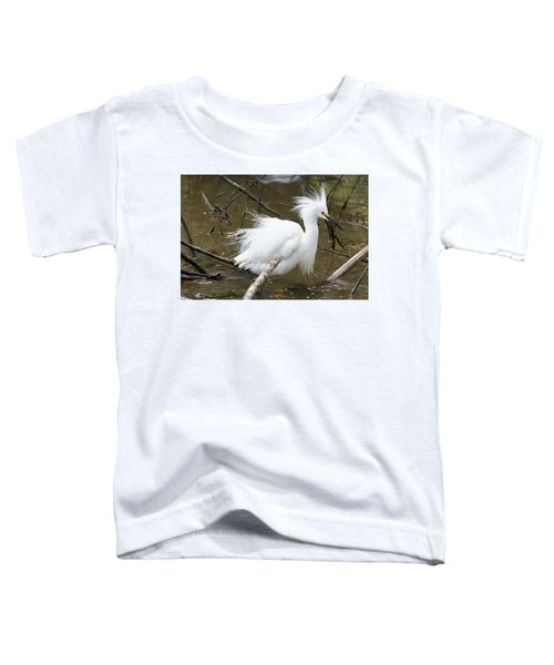 Egret Bath Toddler T-Shirt