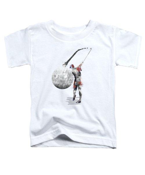 Golf Player Toddler T-Shirt by Marlene Watson