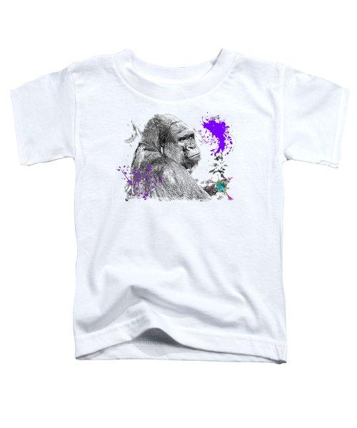 Gorilla Toddler T-Shirt by Maria Astedt