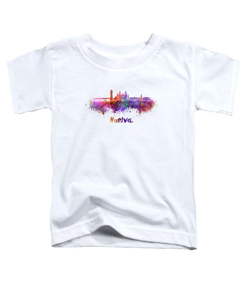 Hamilton Skyline In Watercolor Toddler T-Shirt
