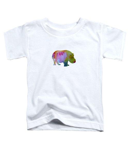Hippopotamus Toddler T-Shirt by Mordax Furittus