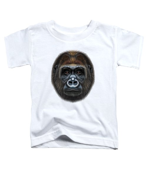 Illustrated Portrait Of Gorilla Male. Toddler T-Shirt