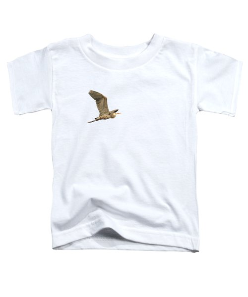 Isolated Great Blue Heron 2015-5 Toddler T-Shirt by Thomas Young
