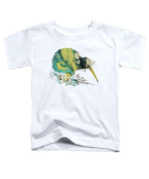 Kiwi Bird Toddler T-Shirt by Mordax Furittus