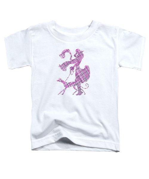 Lady Dog Walker Threads Transparent Background Toddler T-Shirt
