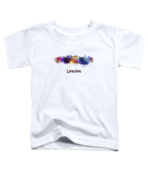 London Skyline In Watercolor Toddler T-Shirt by Pablo Romero